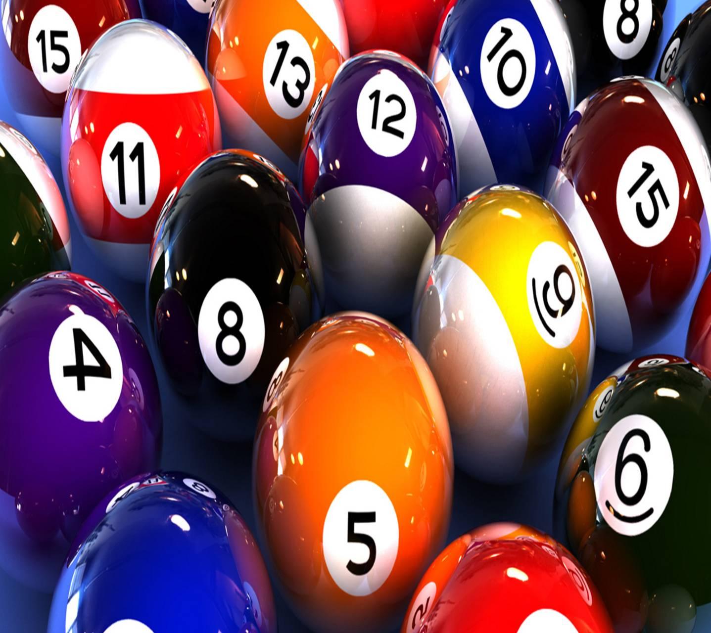 colorful Billiard Balls Wallpaper
