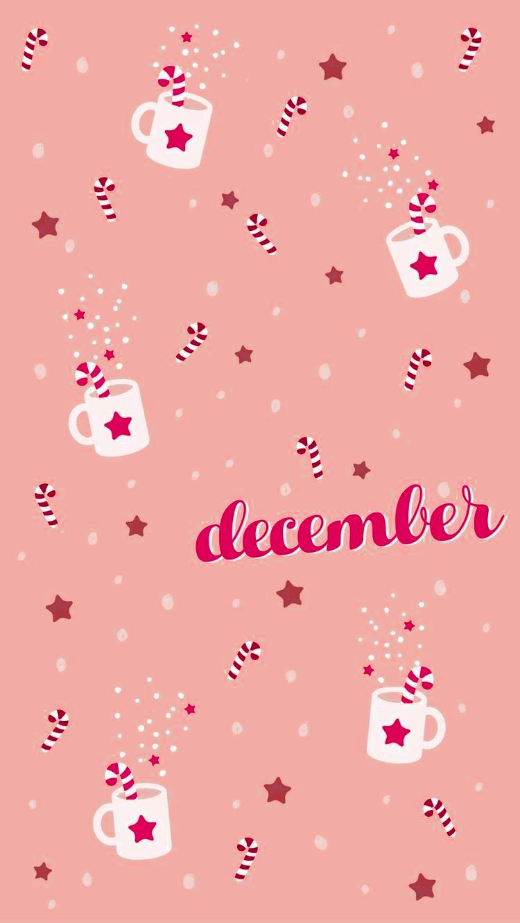 december Cute Christmas Wallpaper