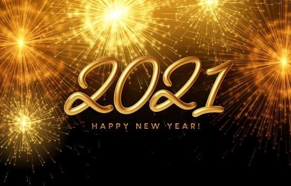 golden shine 2021 Happy New Wallpaper
