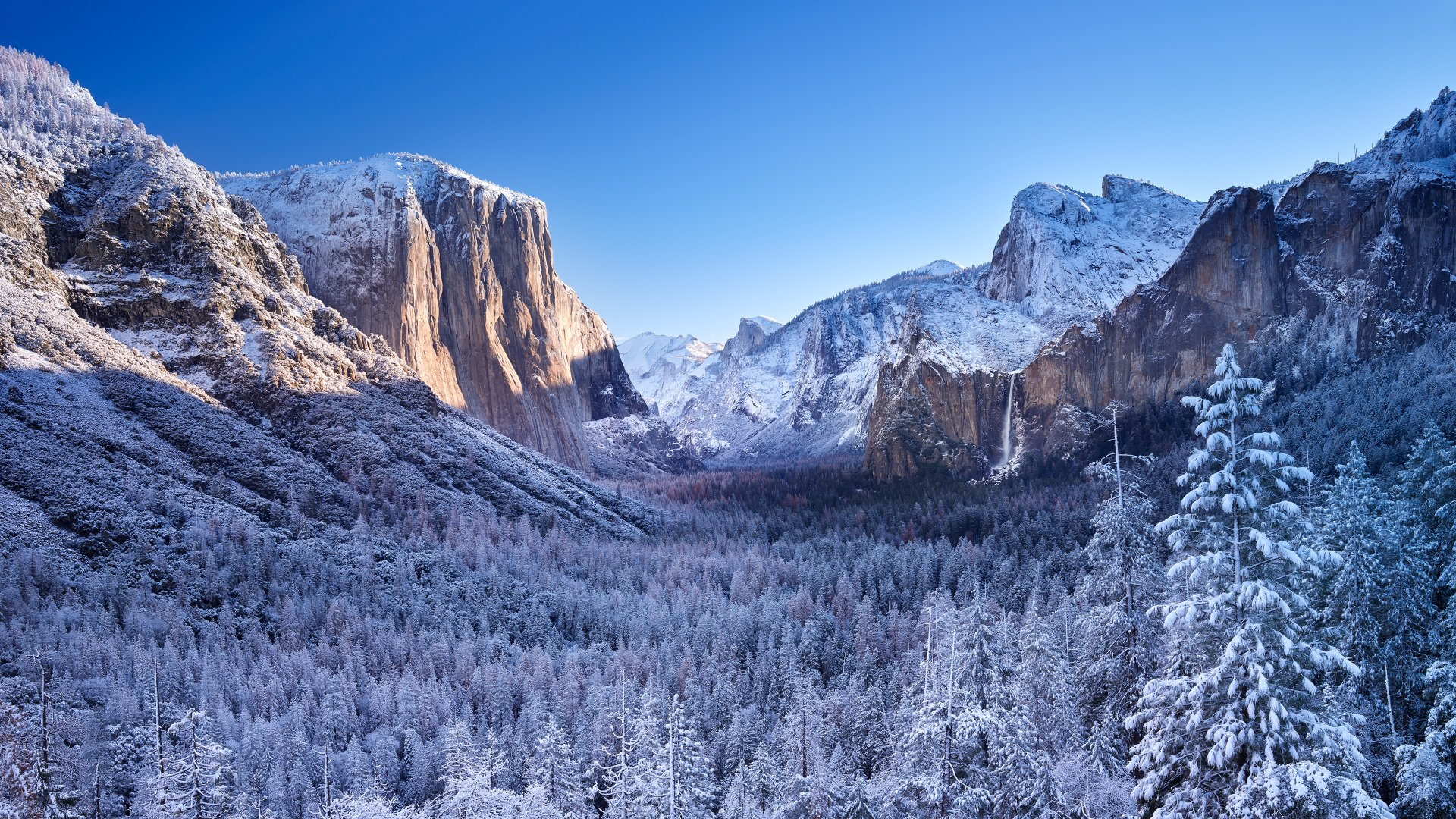 mountain Winter Wallpaper 4K