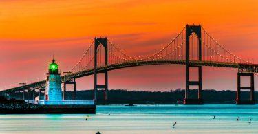 beautiful bridge Rhode Island Wallpaper