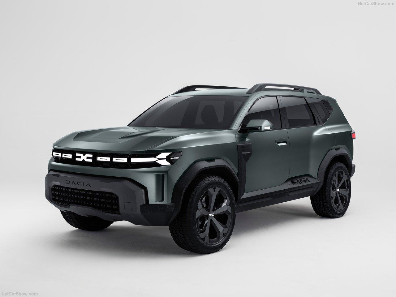 black car Dacia Bigster Concept 2021