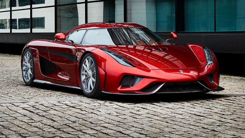 red car Koenigsegg Regera