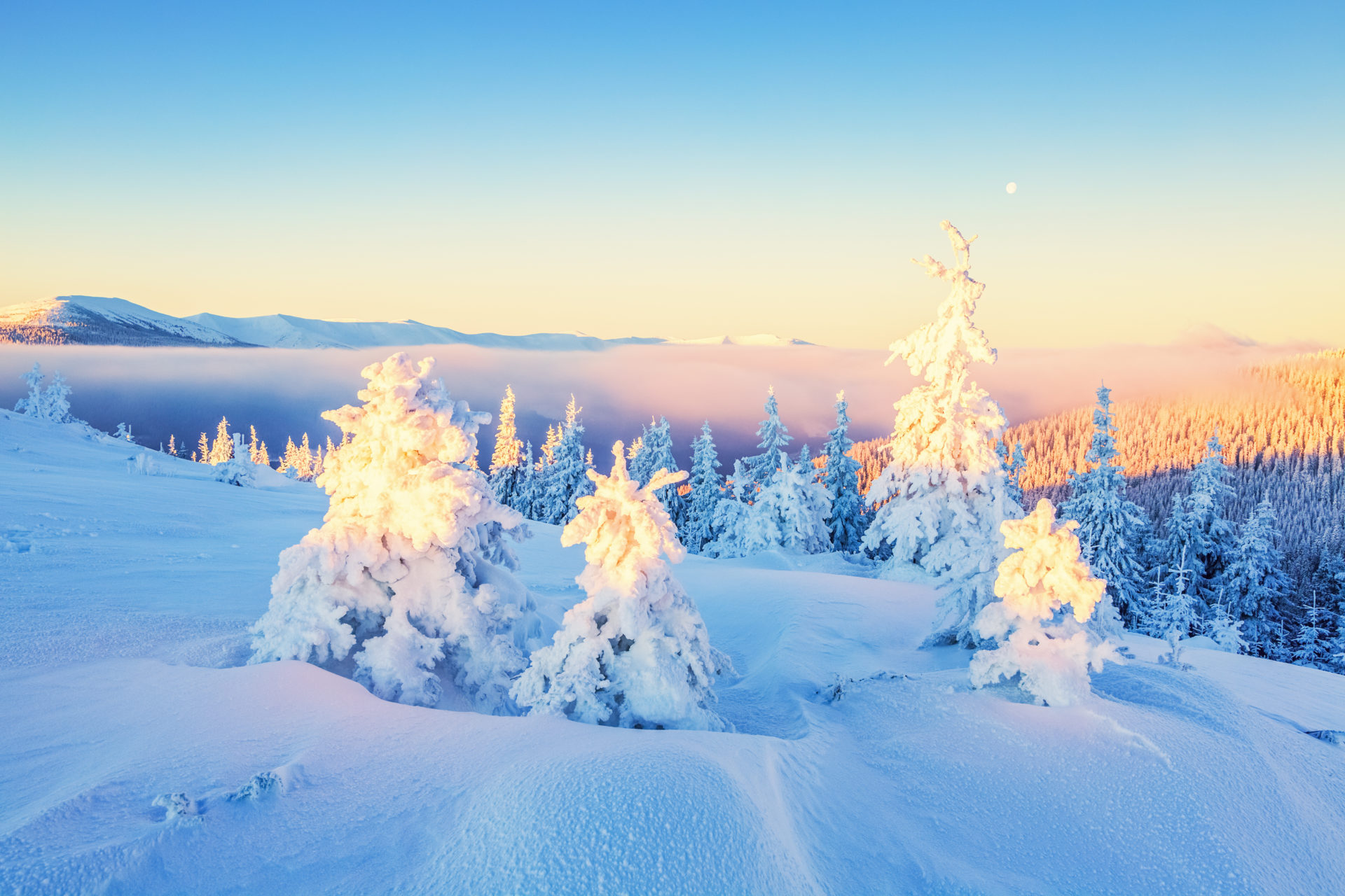 wonderful view HD Winter Wallpaper