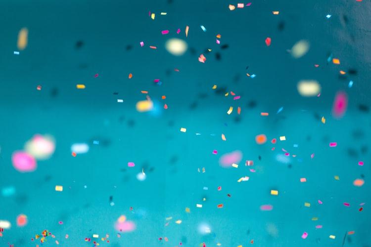 blue hd Confetti Wallpaper