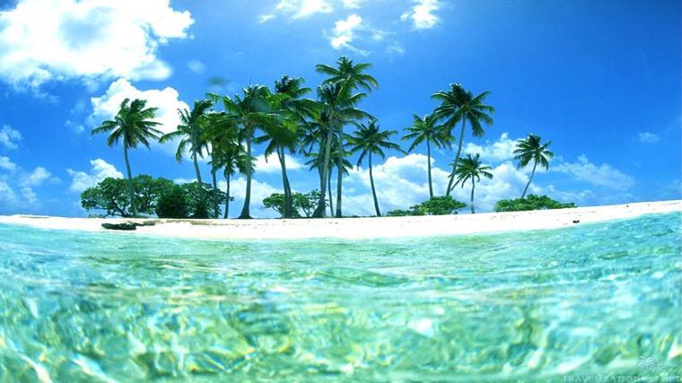 beautiful Tropical Island Wallpaper