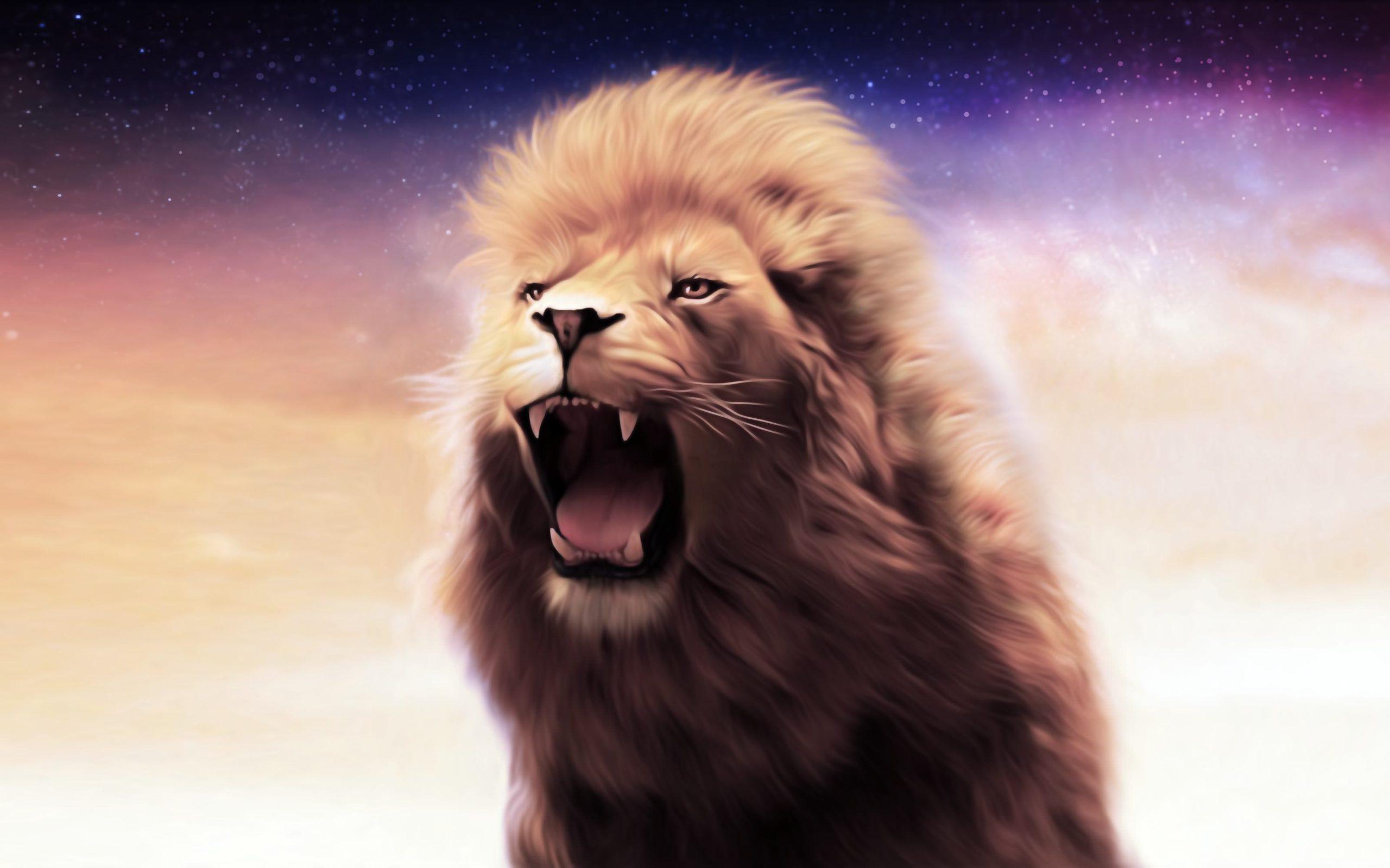 danger look Roaring Lion Wallpaper
