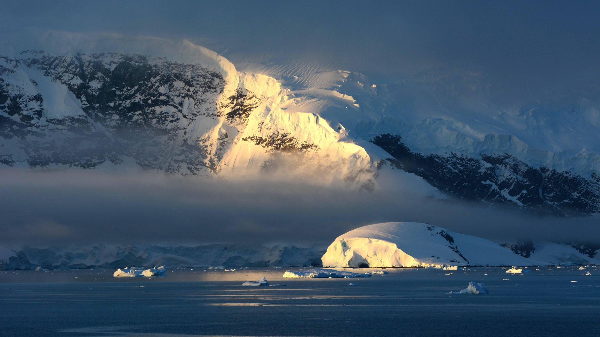 free natural Antarctica Wallpaper