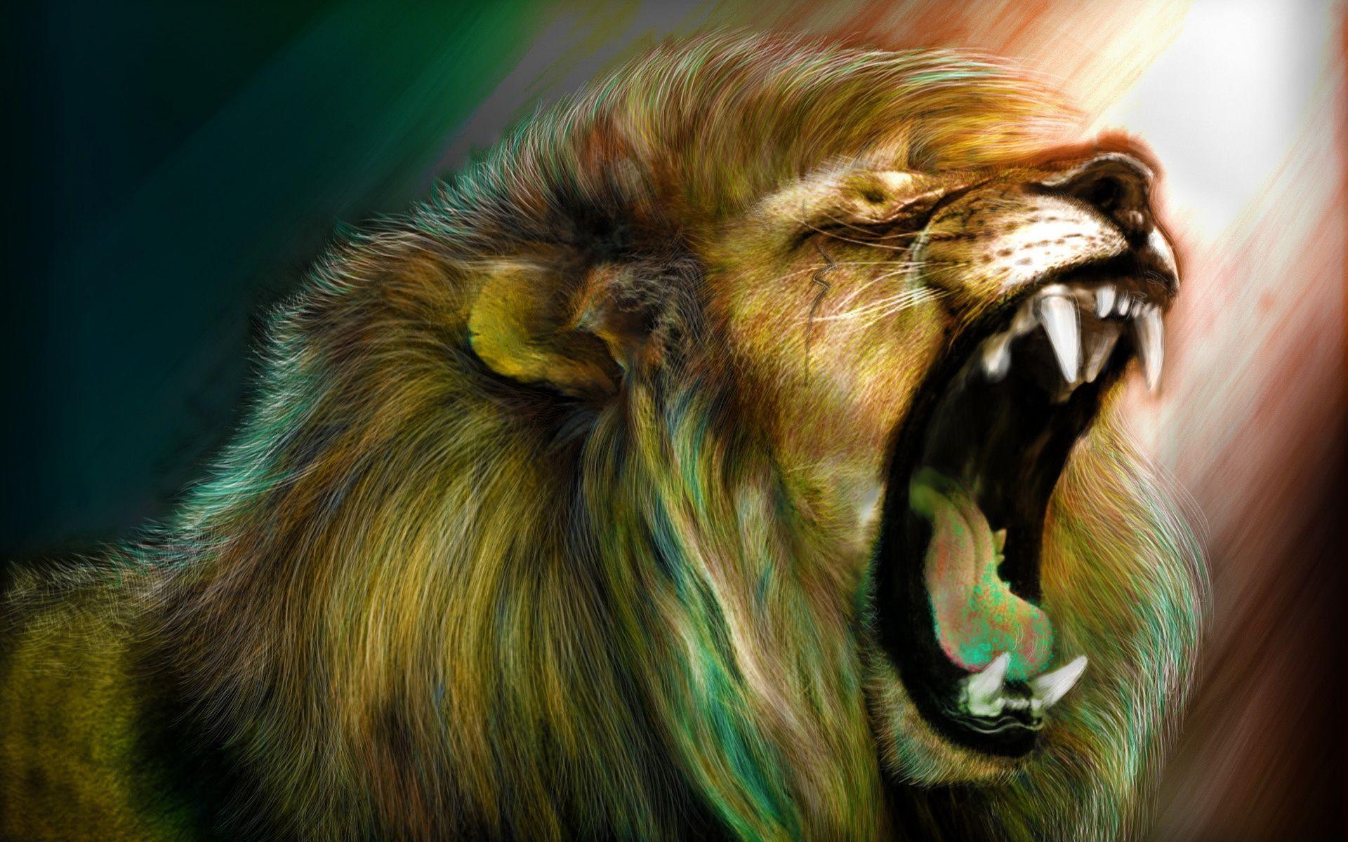 horrible Roaring Lion Wallpaper