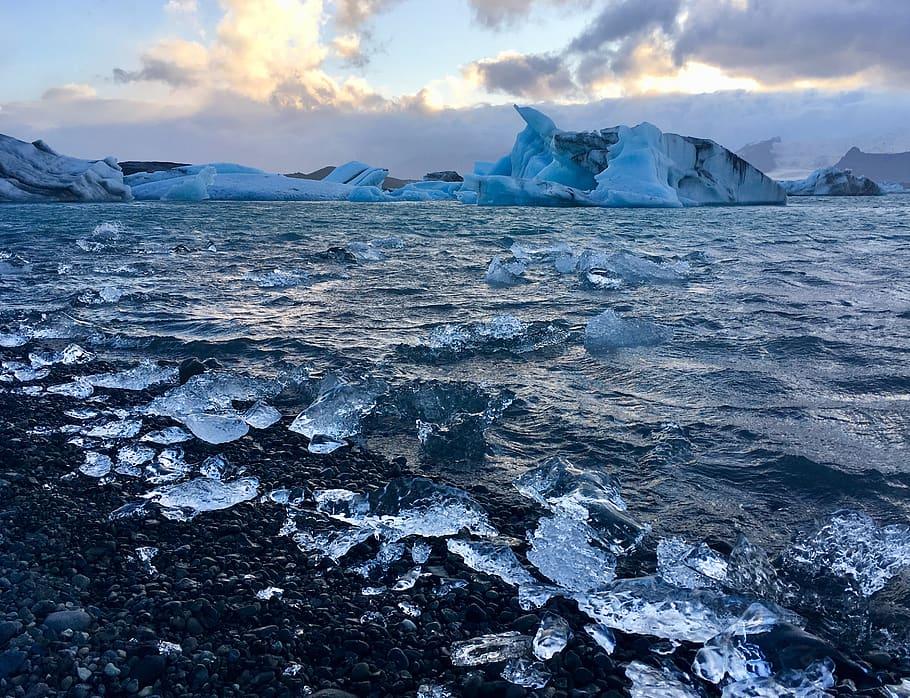 sea Gletschersee Jökulsárlón Wallpaper