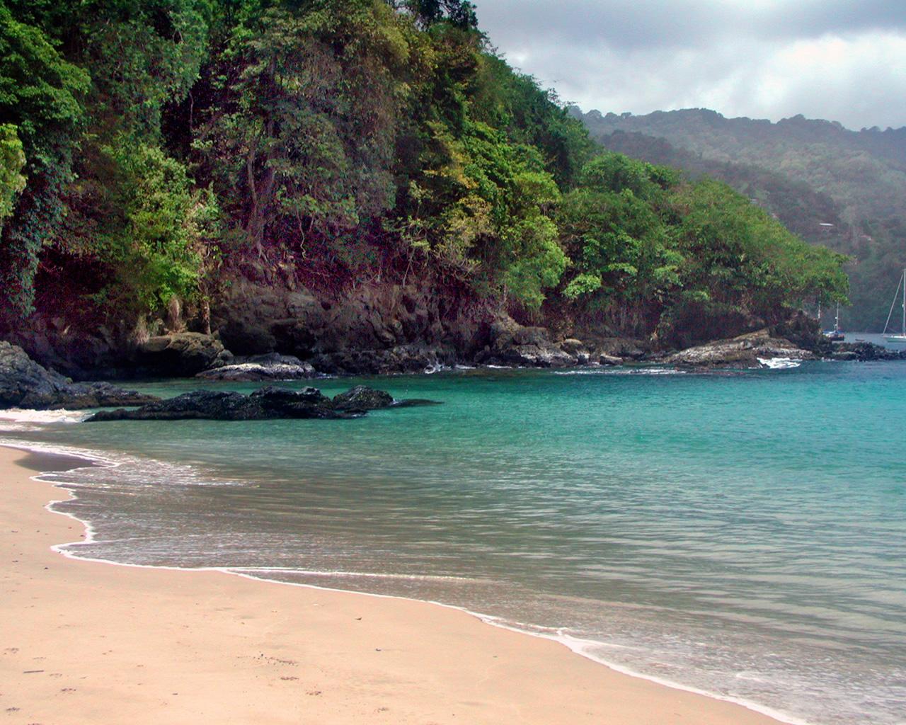 super natural Tropical Island Wallpaper