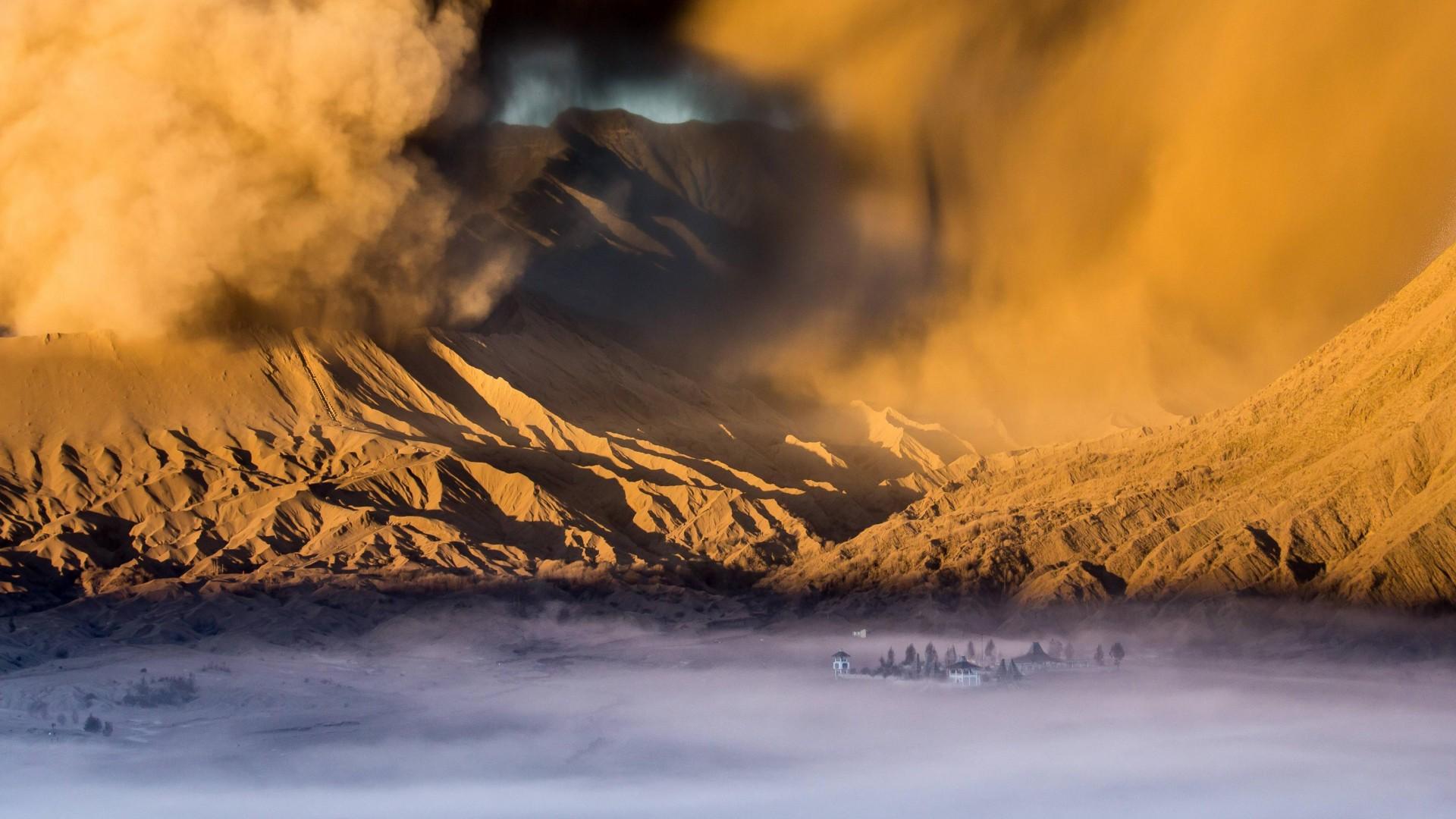 widescreen natural Sandstorm Wallpaper