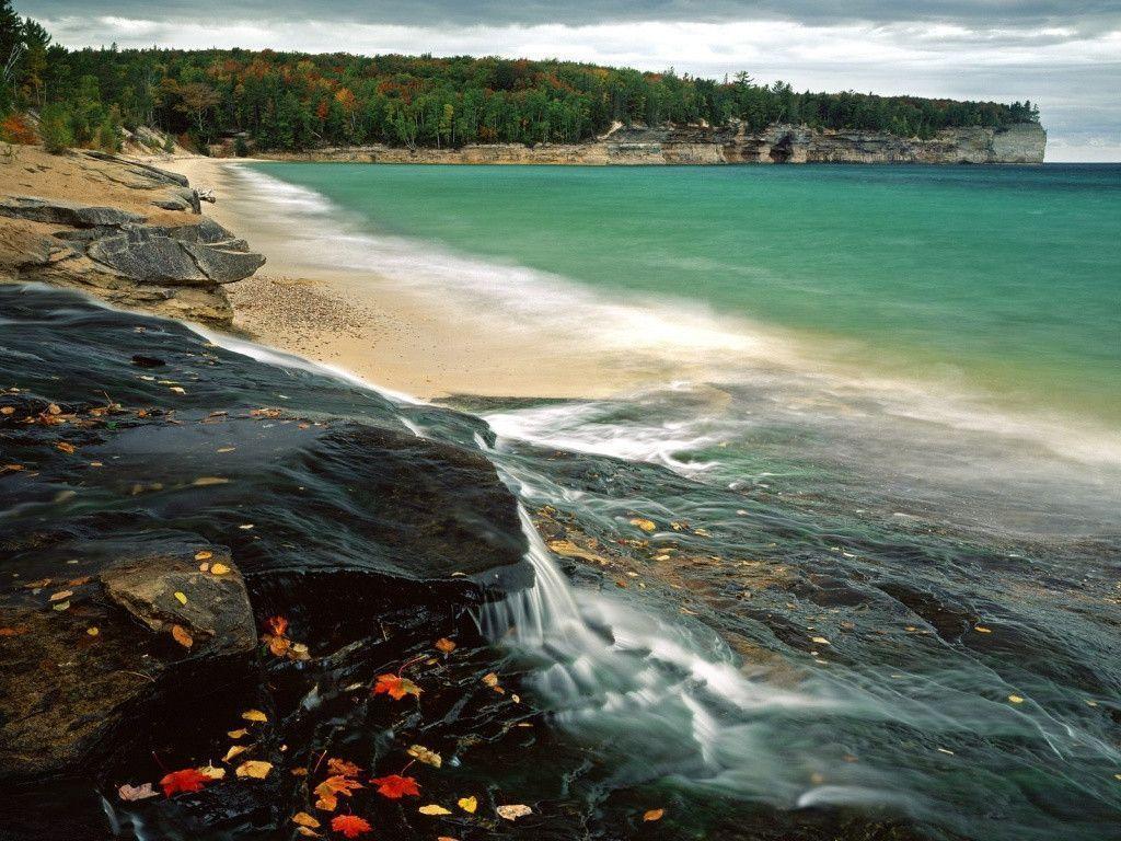 awesome nature Lake Superior Wallpaper