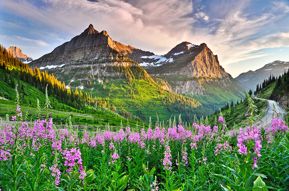 big mountain Glacier National Park