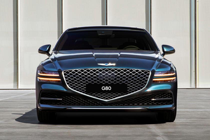 dark blue Genesis Electrified G80