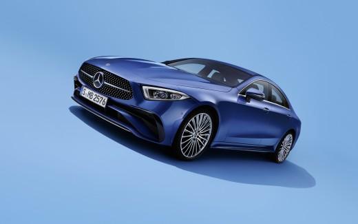 blue car Mercedes-Benz EQS 450+
