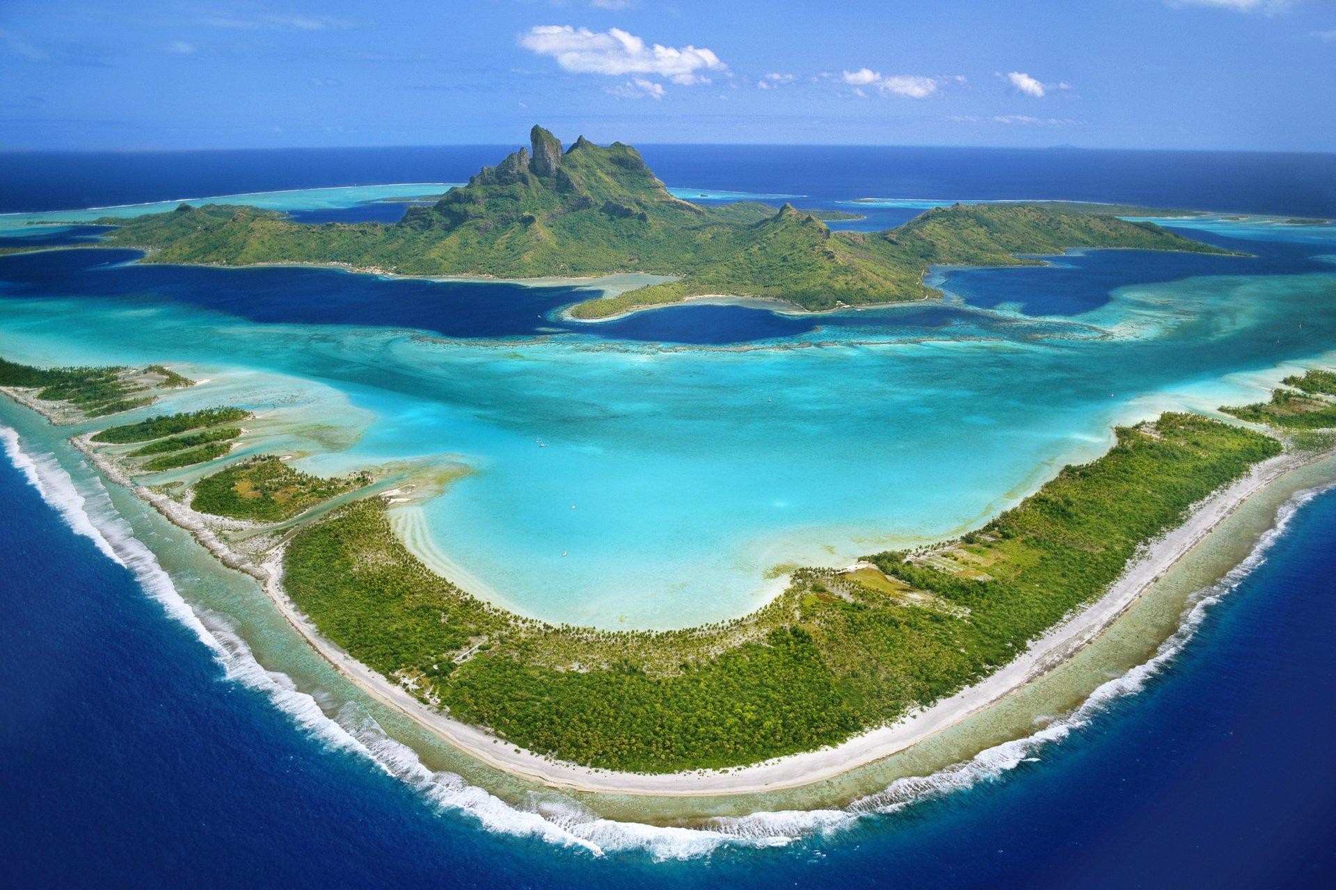 landscape French Polynesia Wallpaper