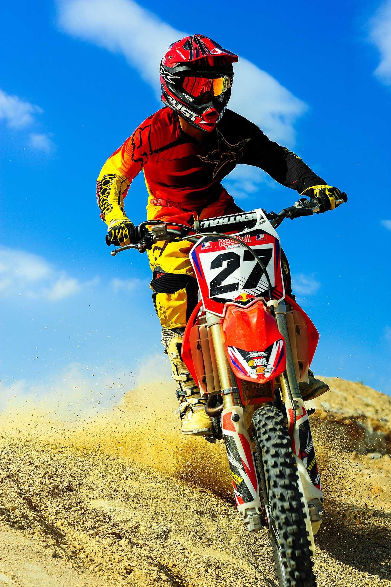 red bike Motocross Wallpaper