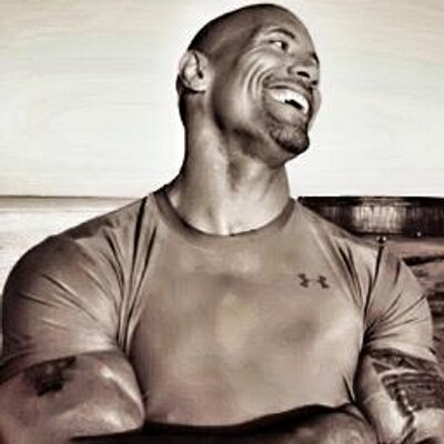 smiling face Dwayne Johnson image