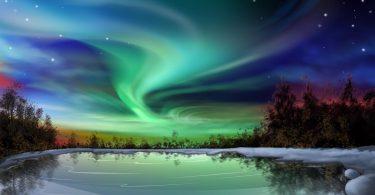 colorful Aurora Borealis Wallpaper