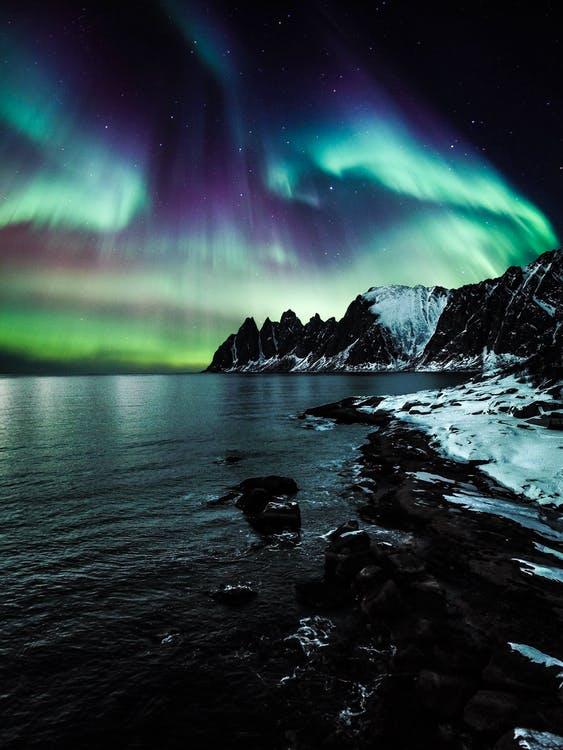 landscape Aurora Borealis Wallpaper