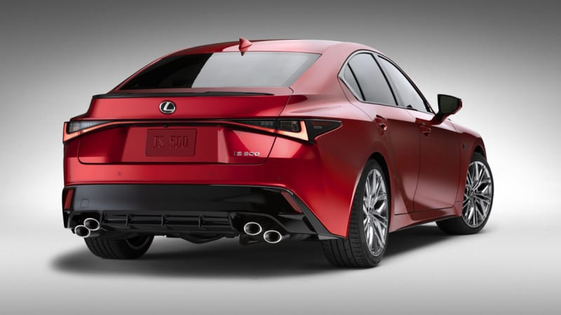 red car Lexus IS 500 F SPORT Performance