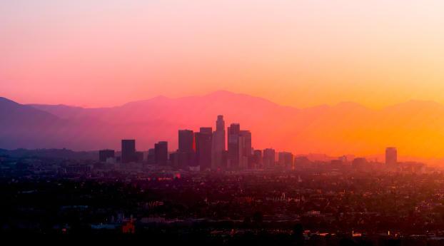 sundown nature Los Angeles Wallpaper