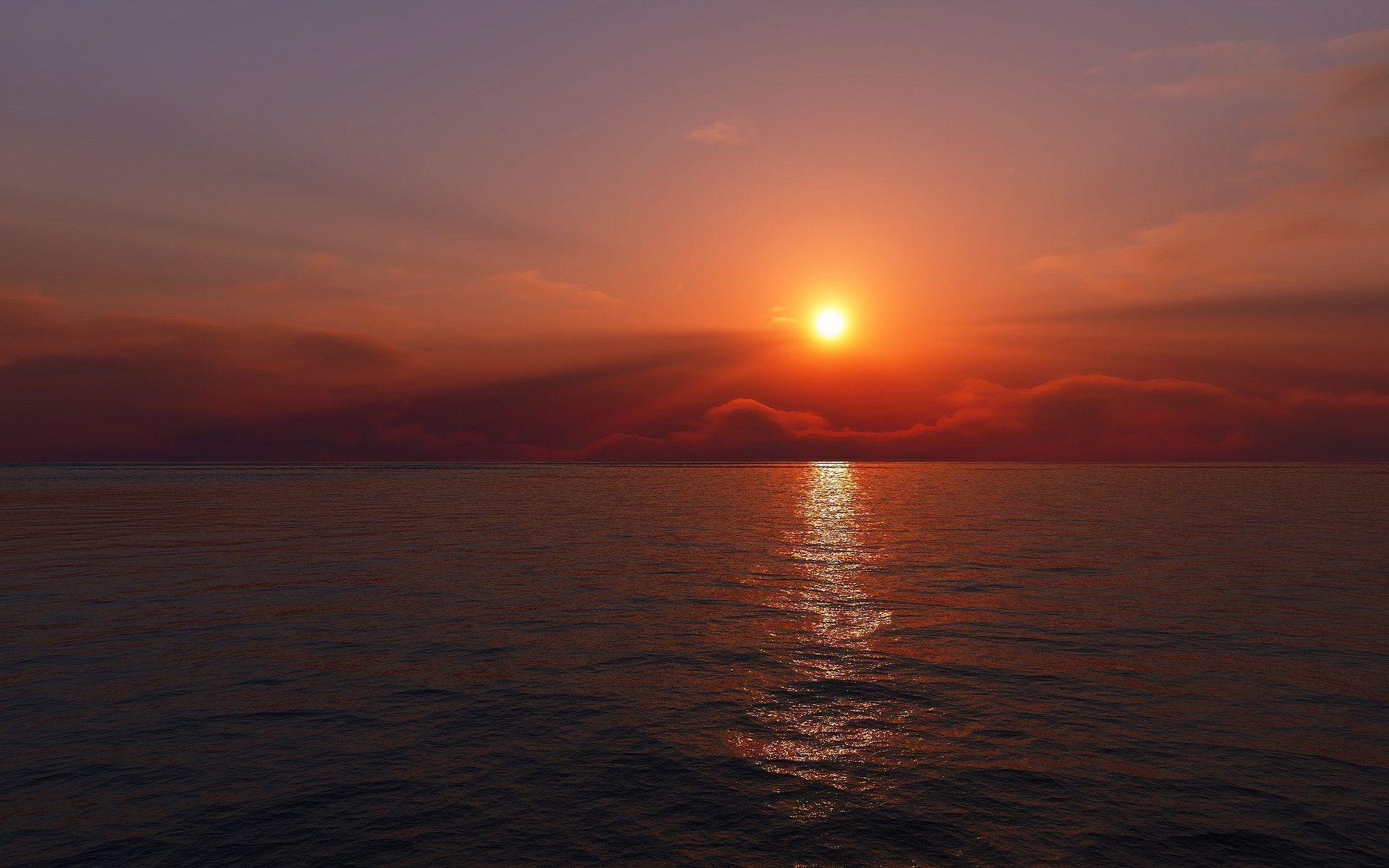 sundown nature Sunrise Wallpaper