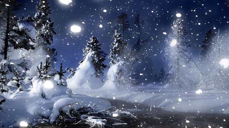 widescreen nature HD Winter Background