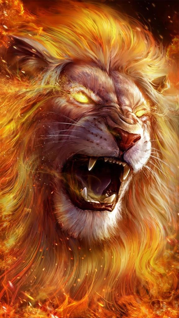 yellow eyes Lion Wallpaper