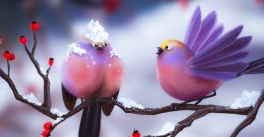 artwork Cute Birds image