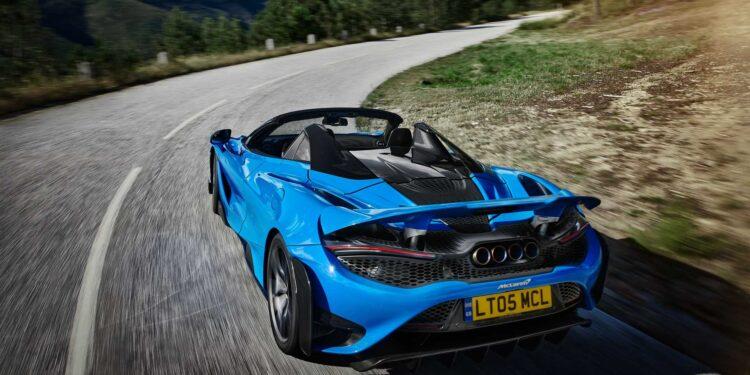 blue car McLaren 765LT Spider image