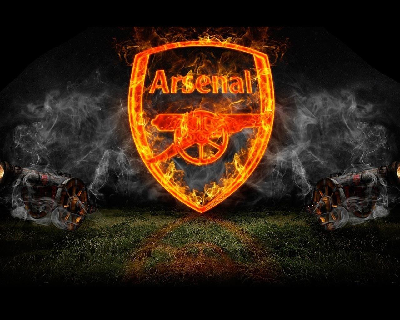 smoke FC Arsenal Gunners image