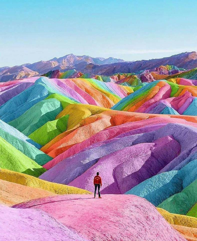 super view Rainbow Mountains