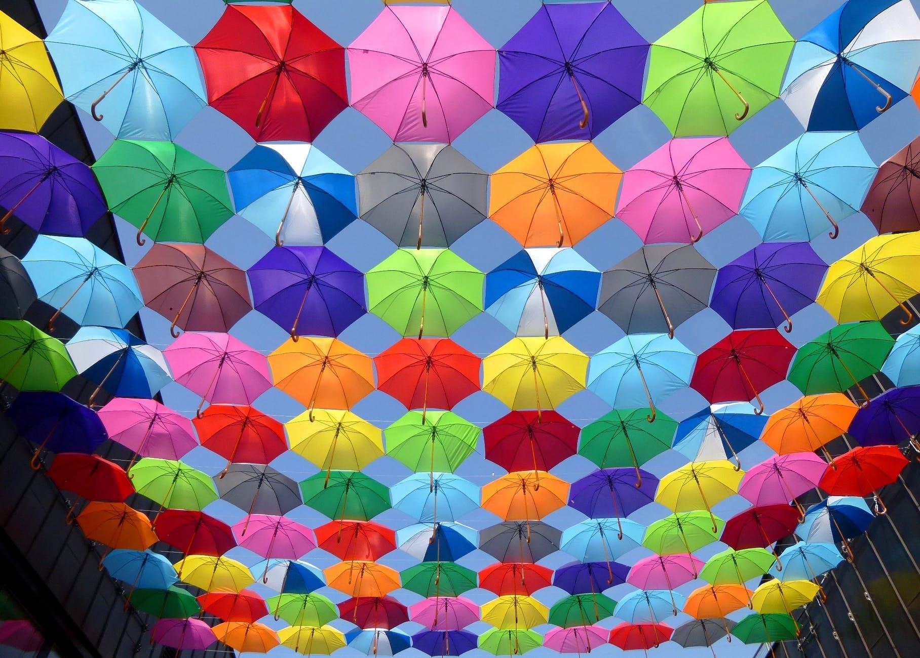 umbrella Colourful Wallpaper